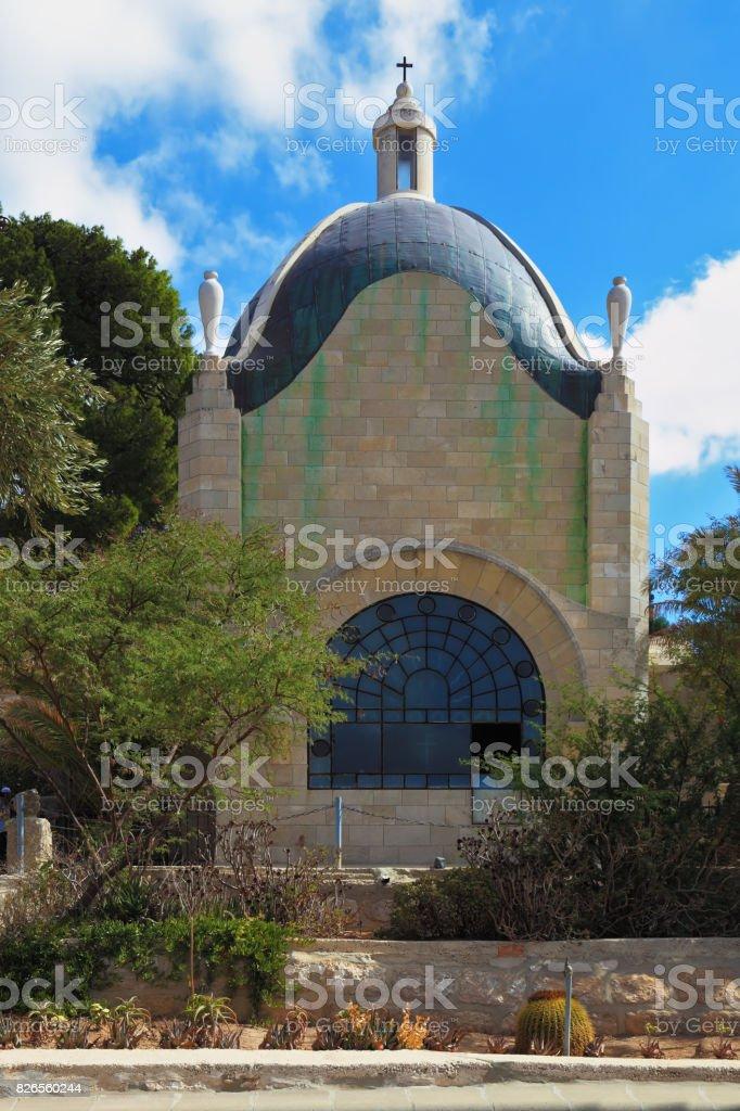 Christian chapel stock photo