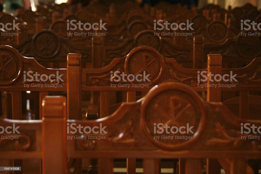 Christian Chi Rho symbol stock photo
