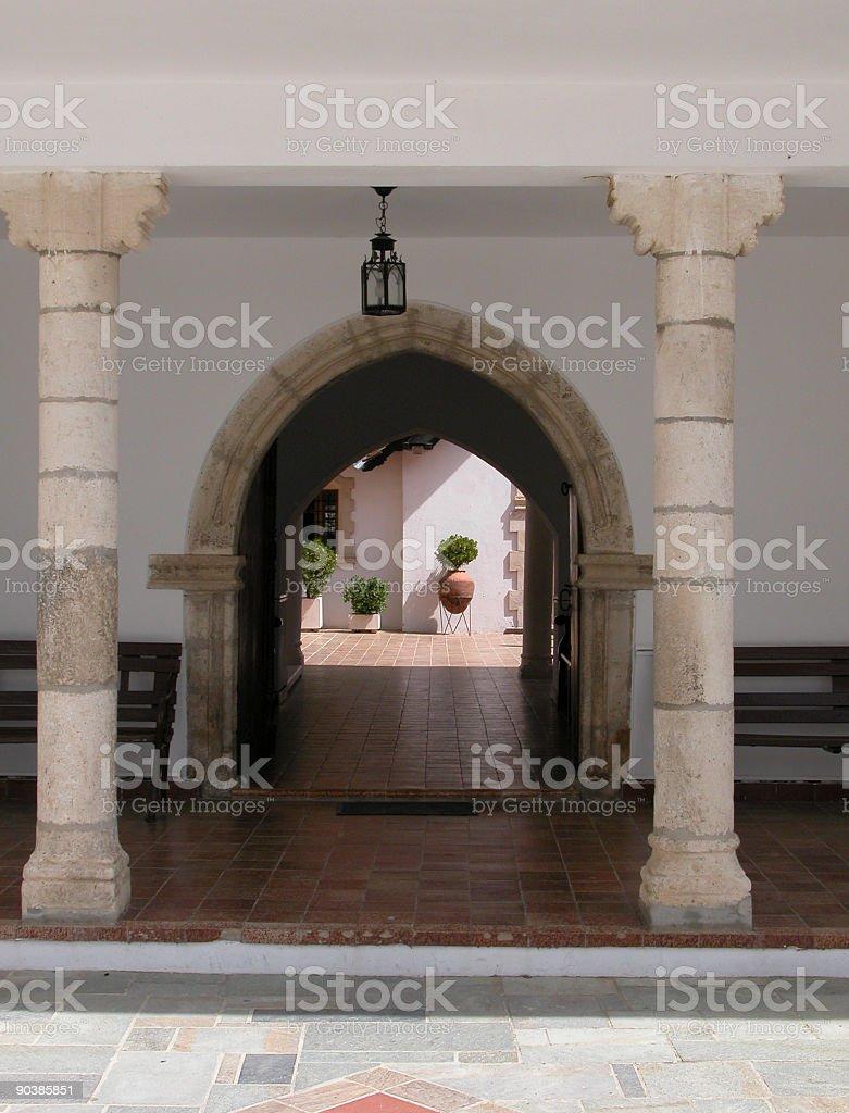 Christian church entrance royalty-free stock photo