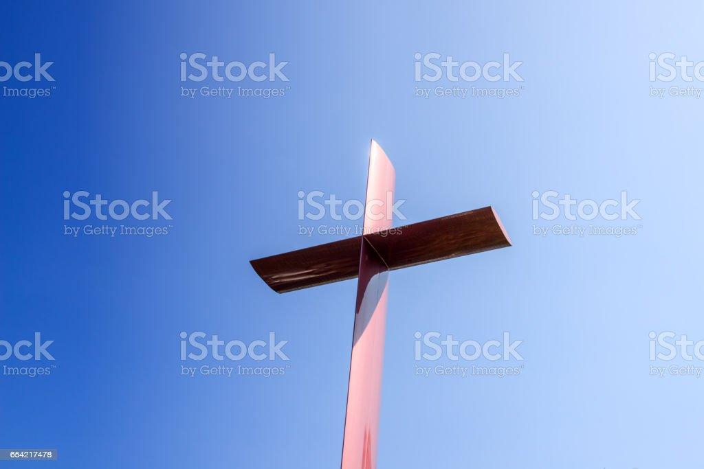 christian cross close up stock photo