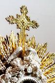 Christian Cross in monstrance