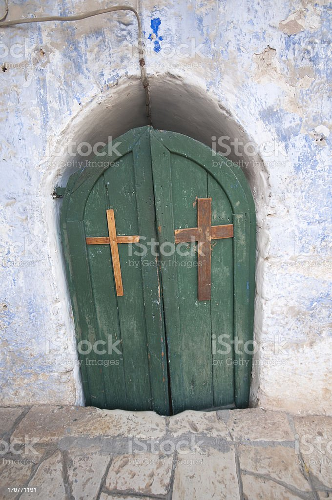 Christian  entrance royalty-free stock photo