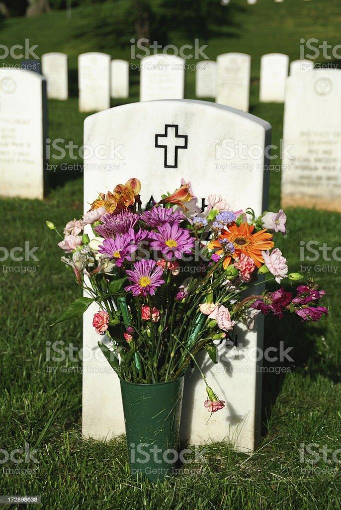 Christian Grave at Arlington royalty-free stock photo