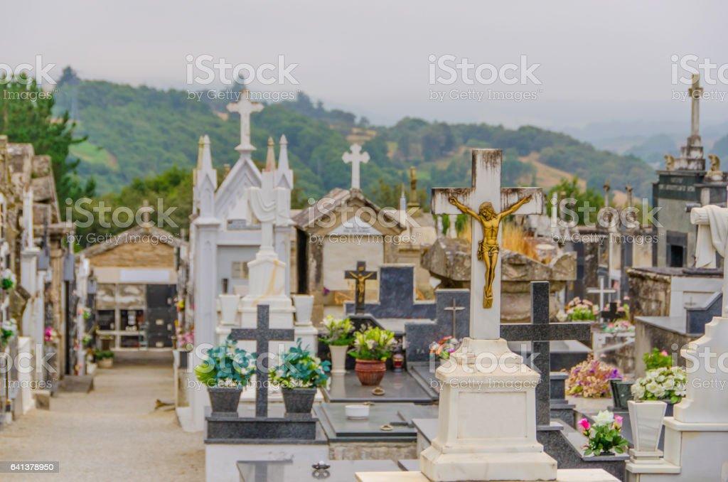 Christian graveyard catholic cemetery stock photo