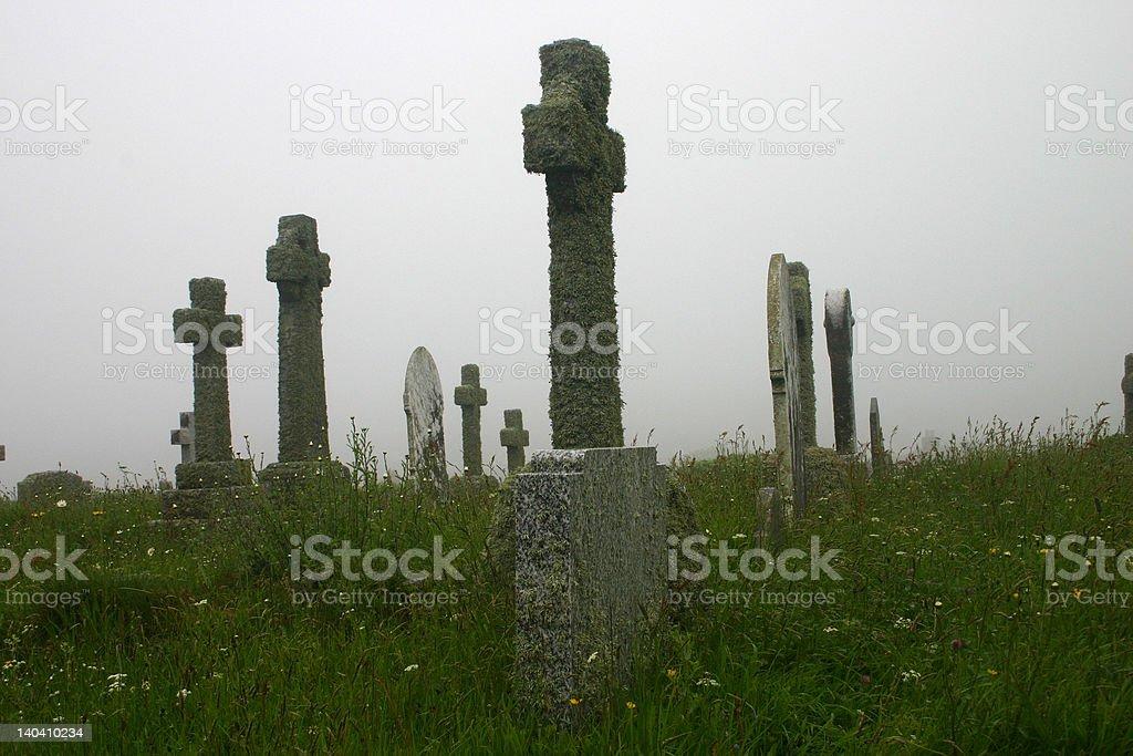 Christian graveyard or cemetery stock photo