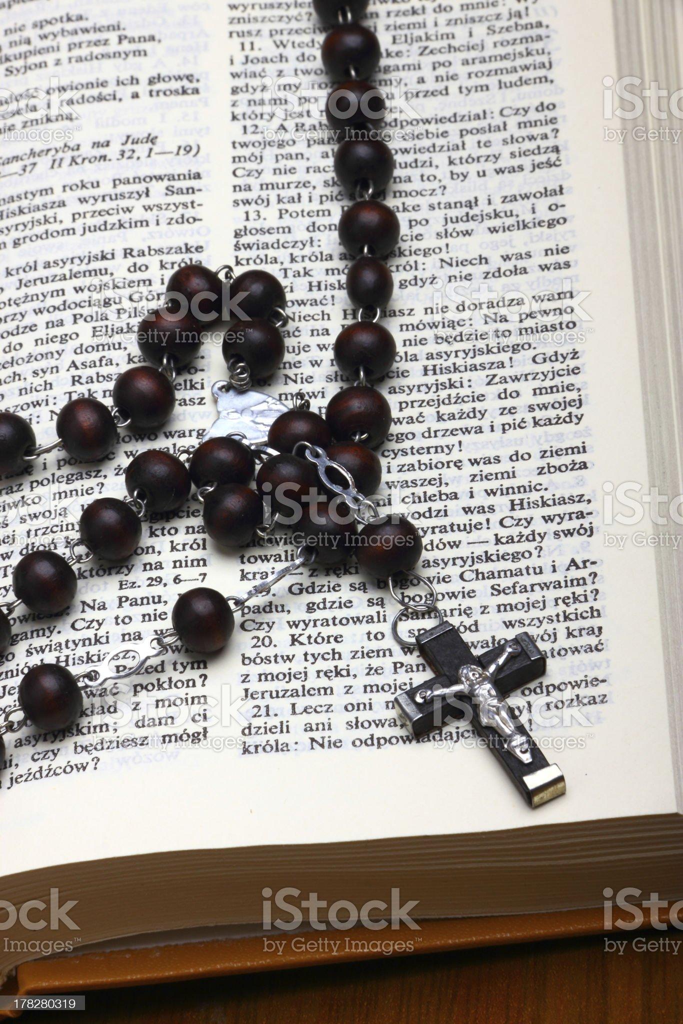 Christian Holy Bible royalty-free stock photo