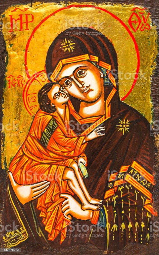 Christian icon stock photo