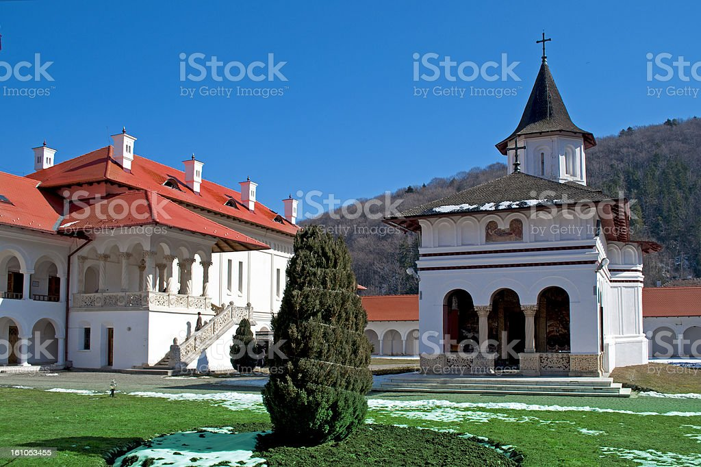 Christian monastery stock photo
