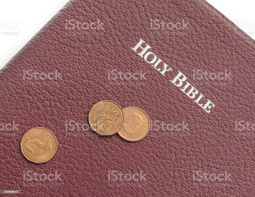 Christian offering or tithe royalty-free stock photo