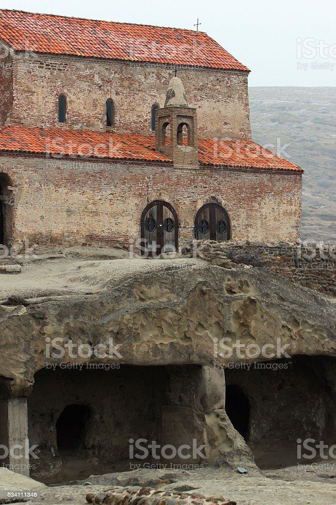Christian Orthodox church in ancient cave pagan city Uplistsihe, stock photo