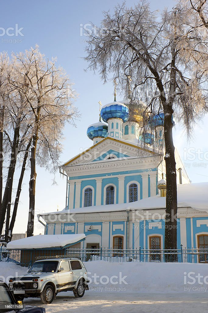 Christian orthodox church in Russia royalty-free stock photo