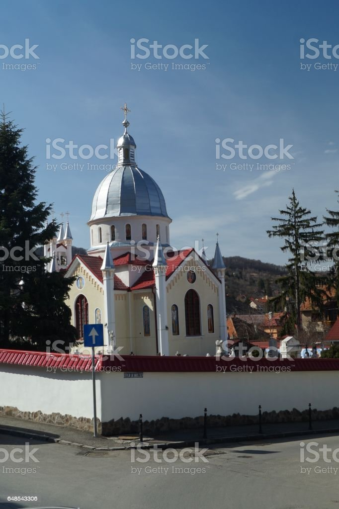 Christian Orthodox church of the Saint Parascheva - 1888, Brasov, Romania (Biserica Sfanta Parascheva) stock photo