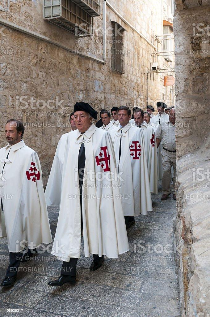 Christian procession in Jerusalem royalty-free stock photo