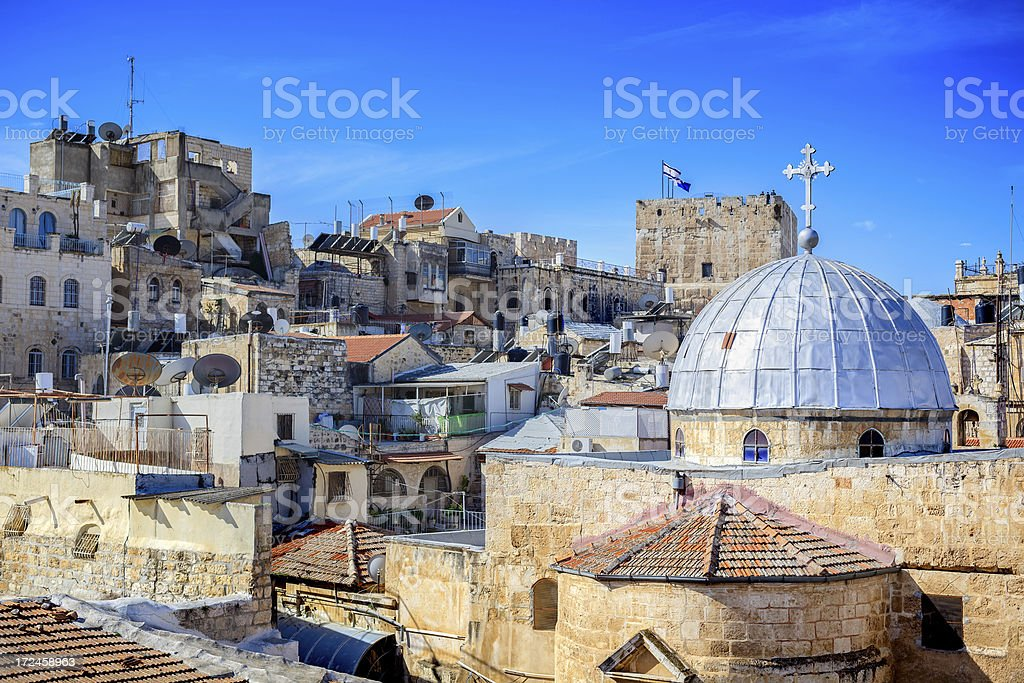 Christian Quarter, Old Town, Jerusalem royalty-free stock photo