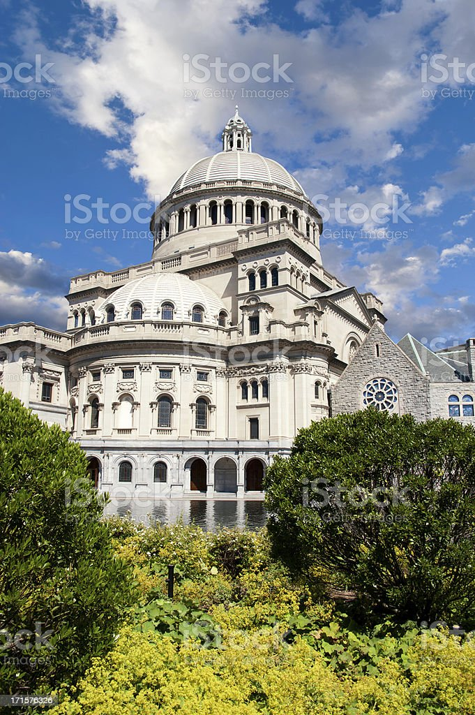 Christian Science Center in the Back Bay Neighborhood of Boston royalty-free stock photo