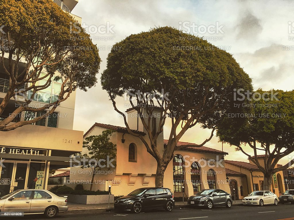 Christian Science Church in Santa Monica, CA, USA stock photo