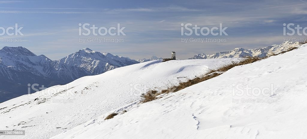 Christian shrine in the mountain royalty-free stock photo