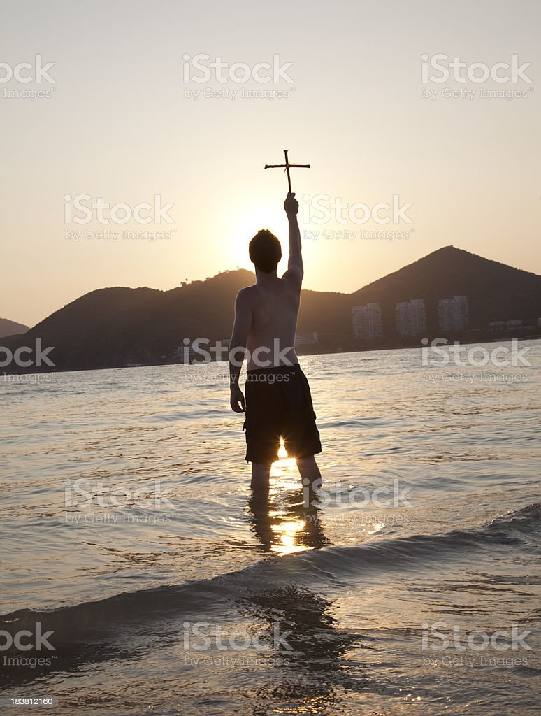 Christian Sunset royalty-free stock photo