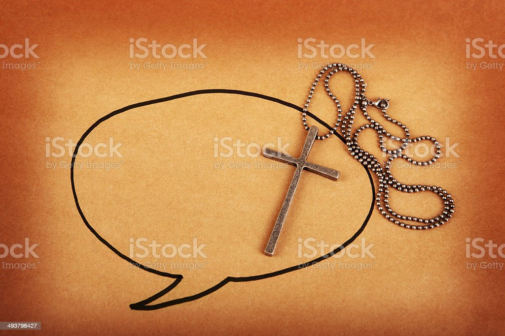 Christian Talks royalty-free stock photo