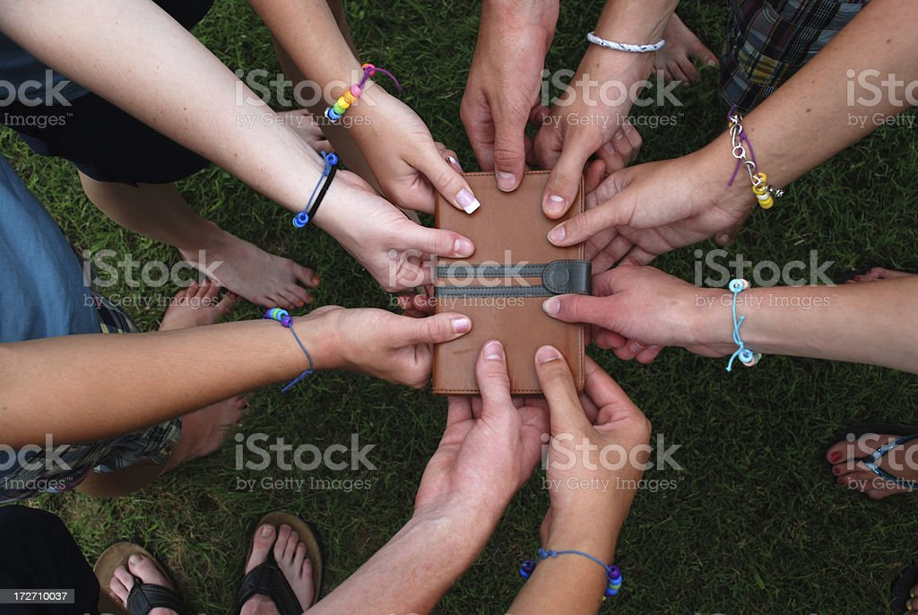 Christian Teenagers - Bible royalty-free stock photo