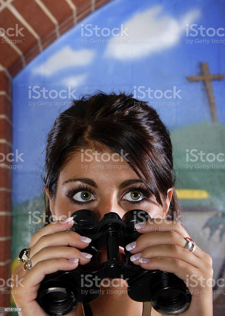 christian vision - teen woman stock photo