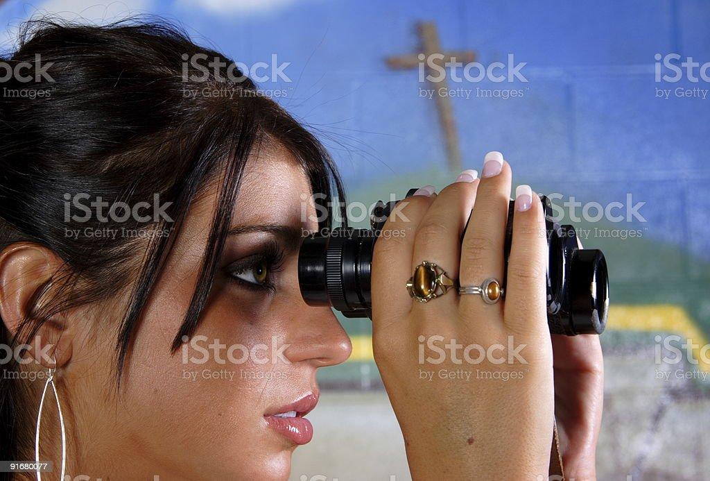 christian vision - woman stock photo
