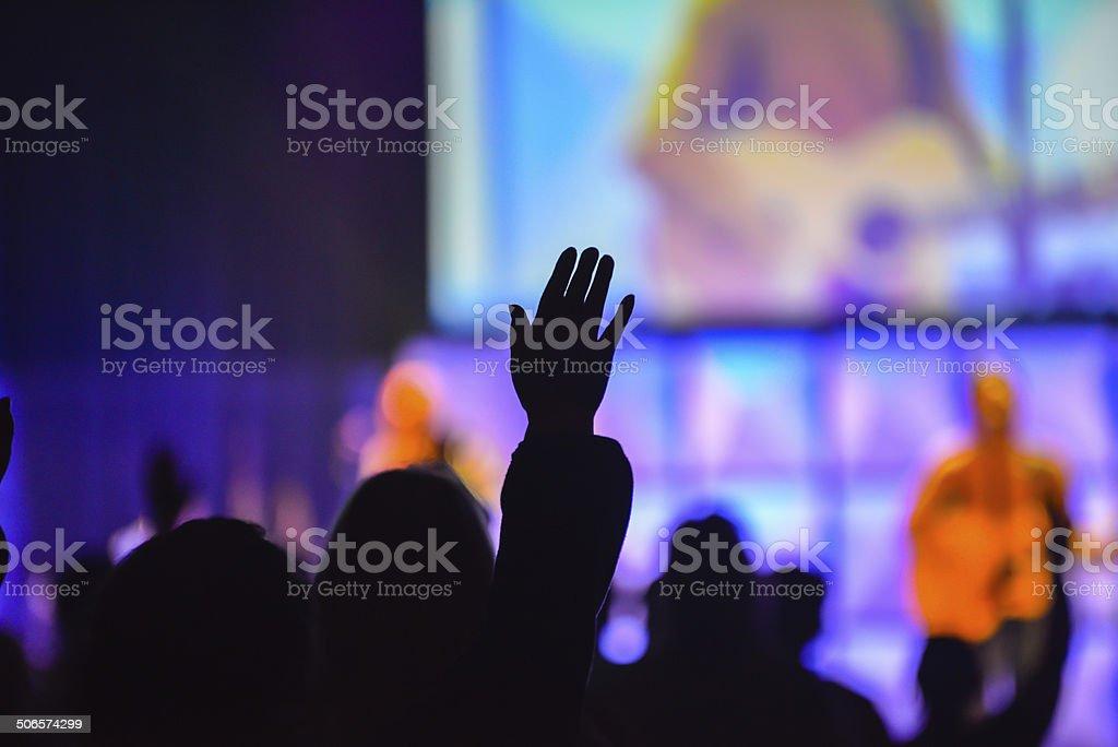 Christian Worship Service stock photo