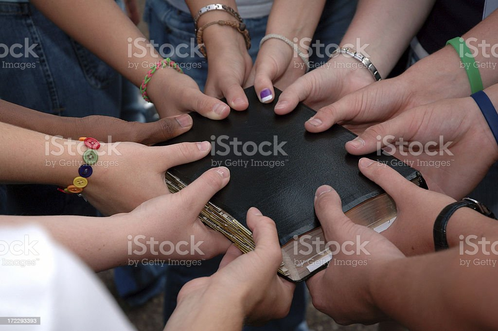 Christian Youth Group royalty-free stock photo