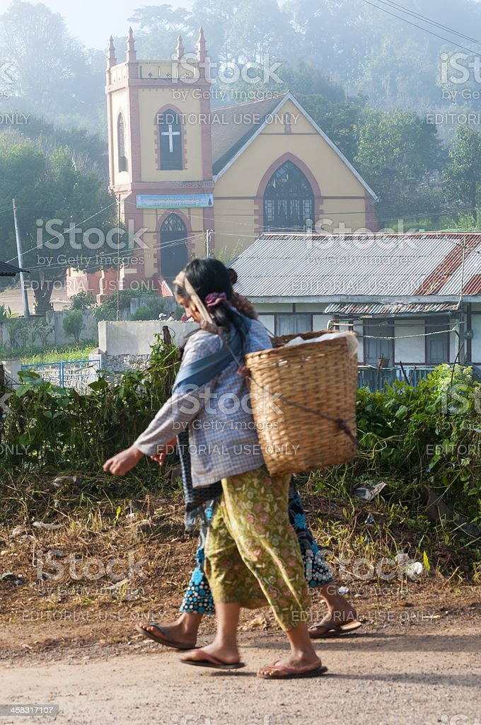 Christianity in Myanmar stock photo