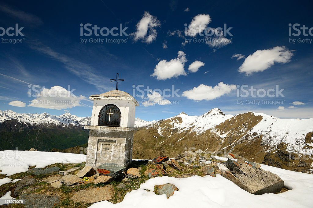 Christianity on the summit royalty-free stock photo
