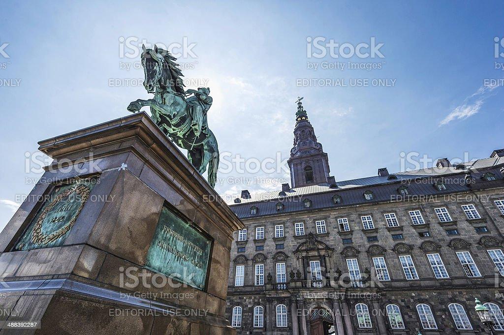 Christiansborg Castle in Copenhagen stock photo