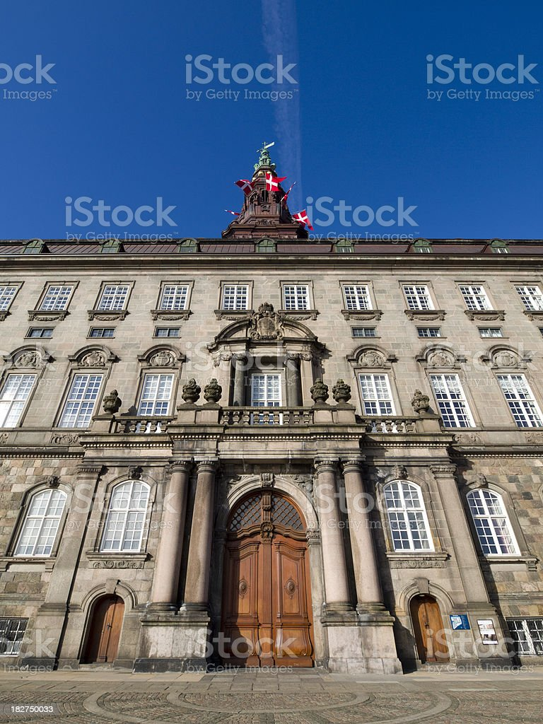 Christiansborg Palace - Danish parliament stock photo