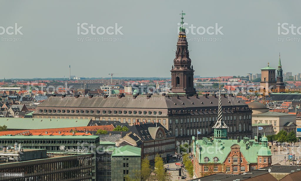 Christiansborg Palace IV stock photo