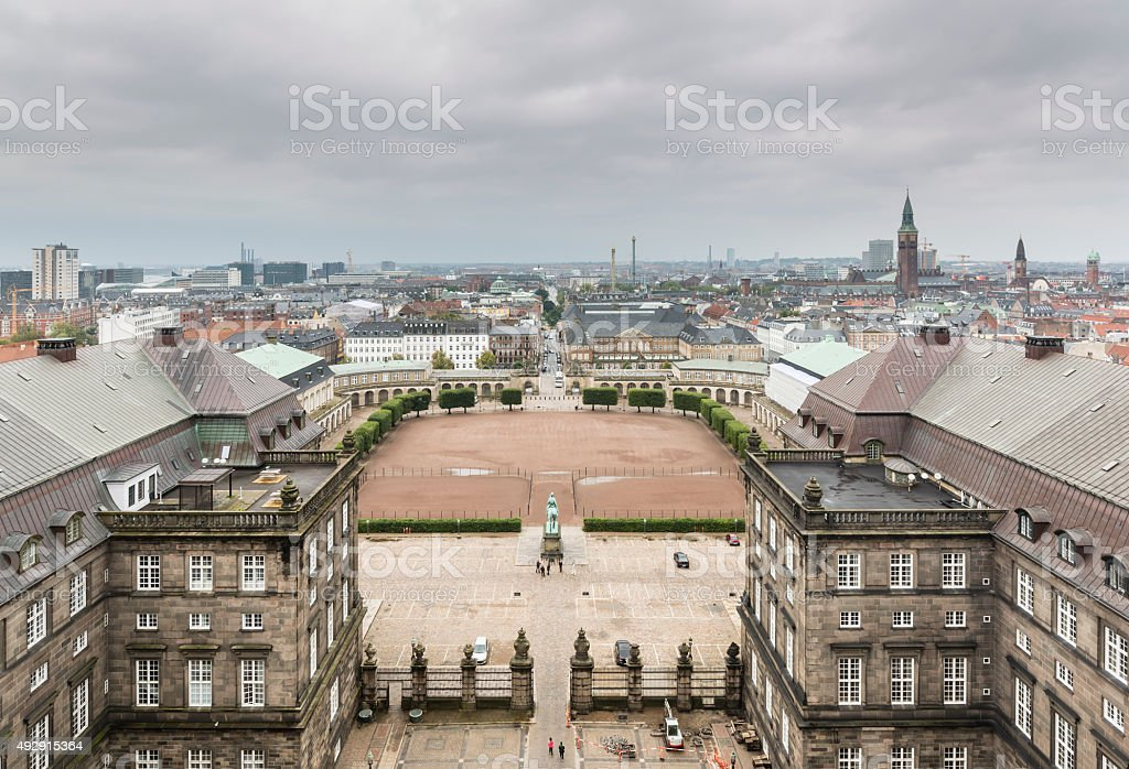 Christiansborg Palace On A Gray Day stock photo