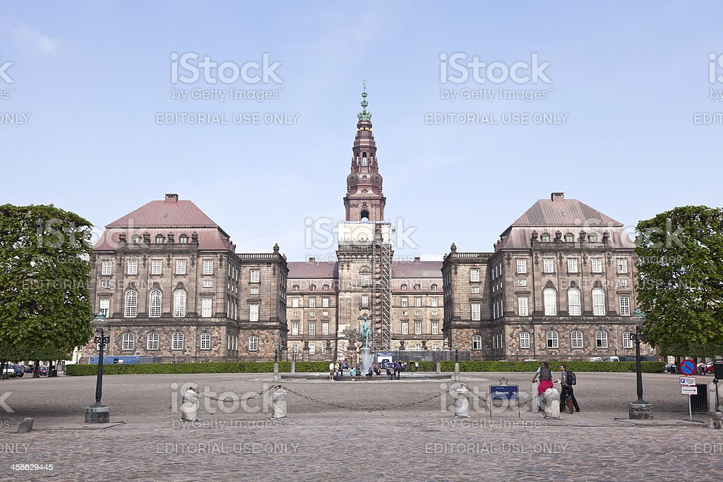 Christiansborg Palace stock photo