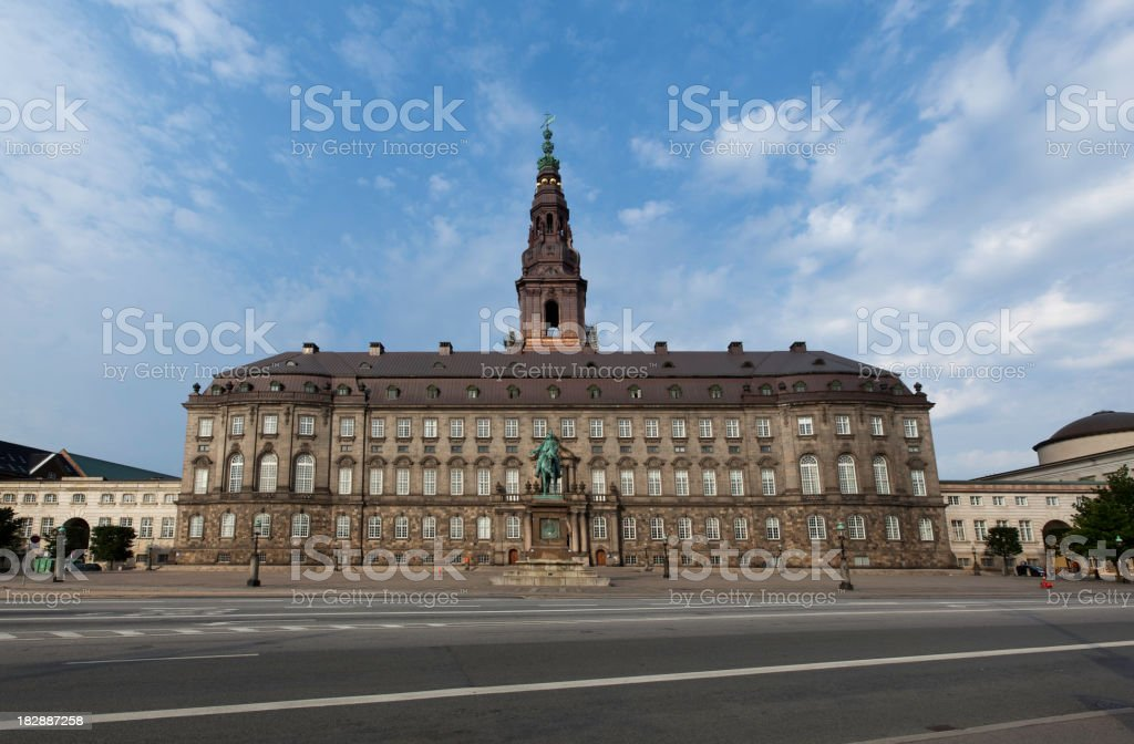 Christiansborg the Danish parliamen royalty-free stock photo