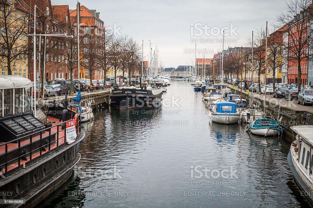 Christianshavn Canal, Copenhagen, Denmark stock photo