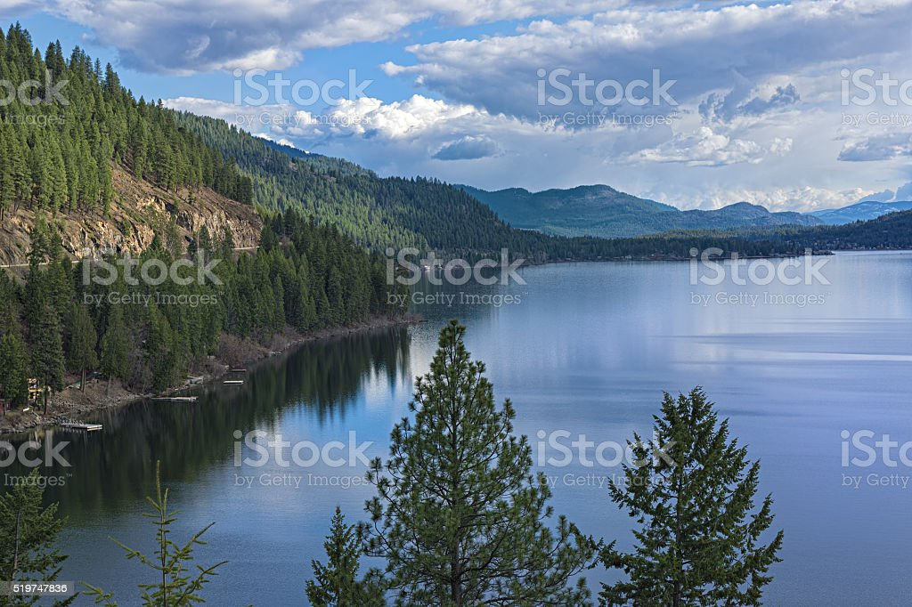 Christina Lake British Columbia Canada stock photo