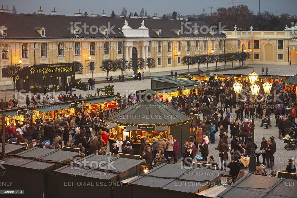 'Christkindlmarkt, Schoenbrunn, Vienna, Austria' stock photo