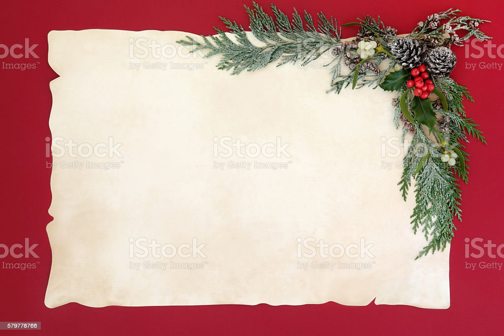 Christmas Abstract Background Border stock photo