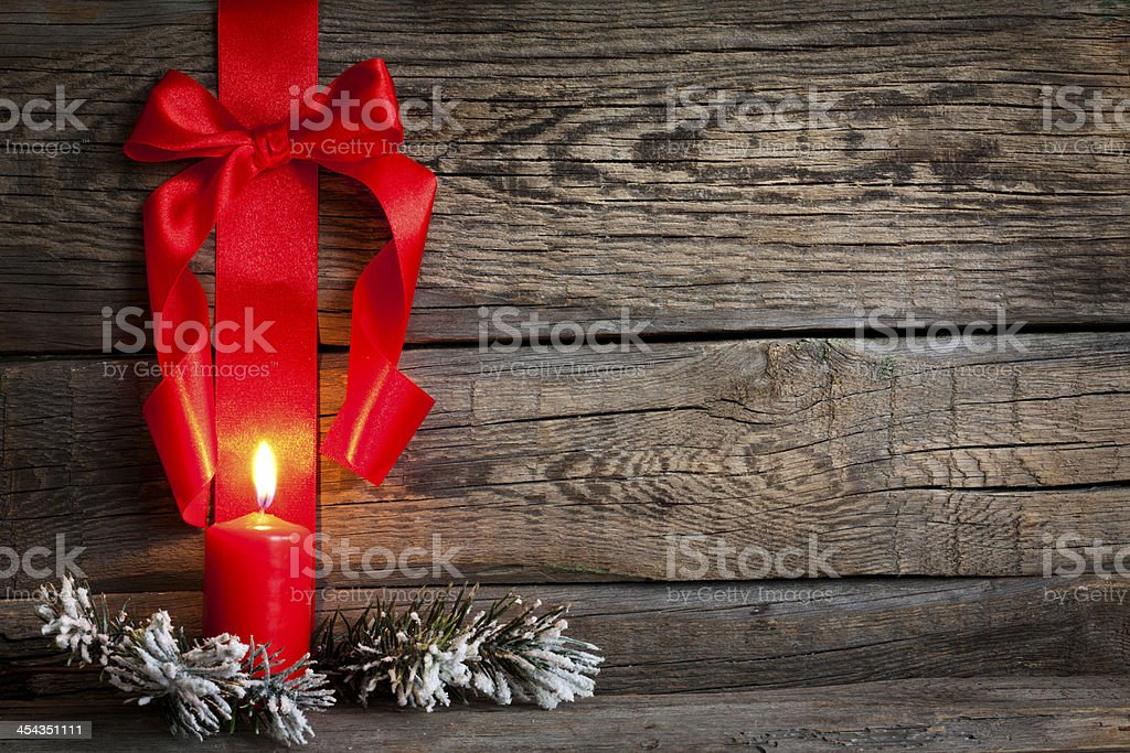 Christmas abstract background with red ribbon stock photo