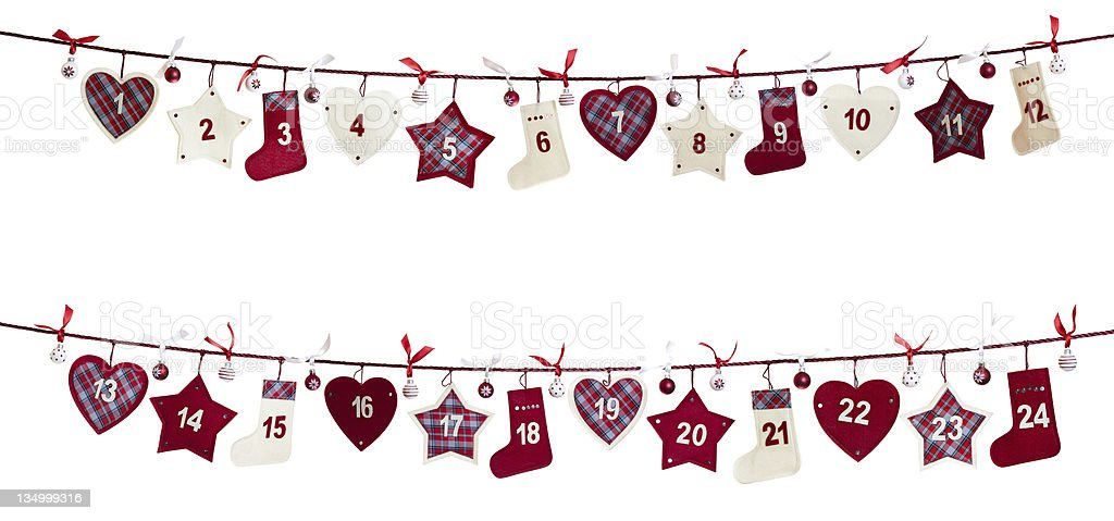 Christmas advent calendar stock photo