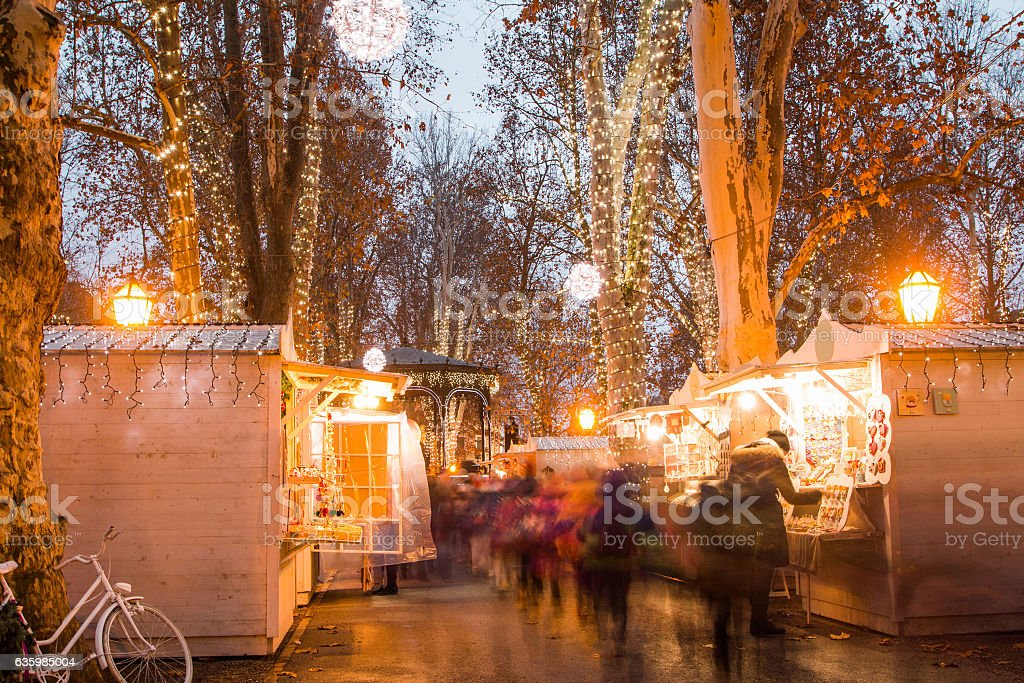 Christmas Advent, Zagreb, Croatia stock photo