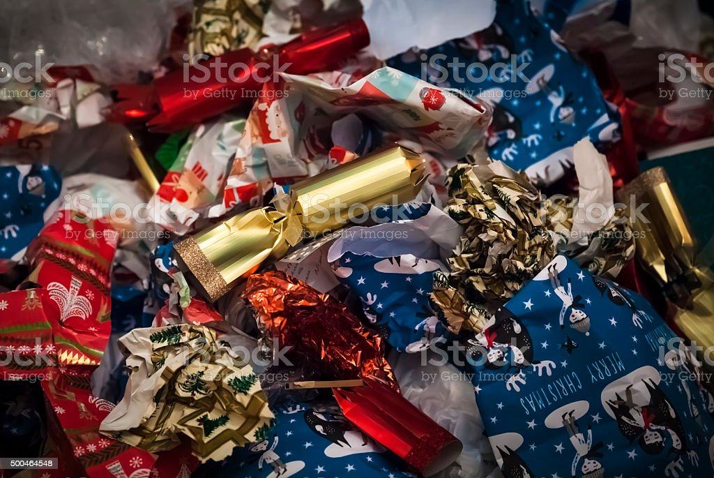 Christmas aftermath stock photo