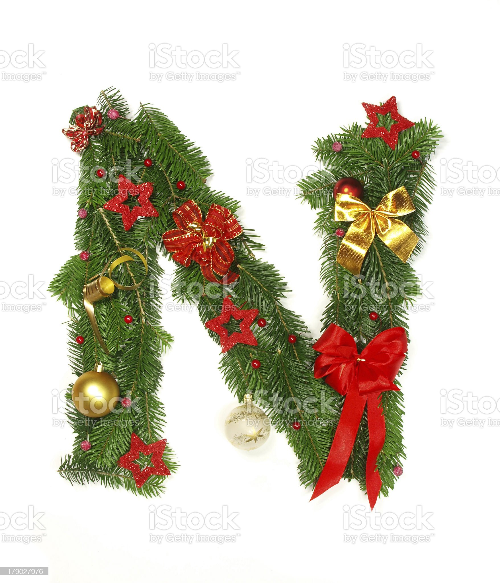 christmas alphabet letter royalty-free stock photo