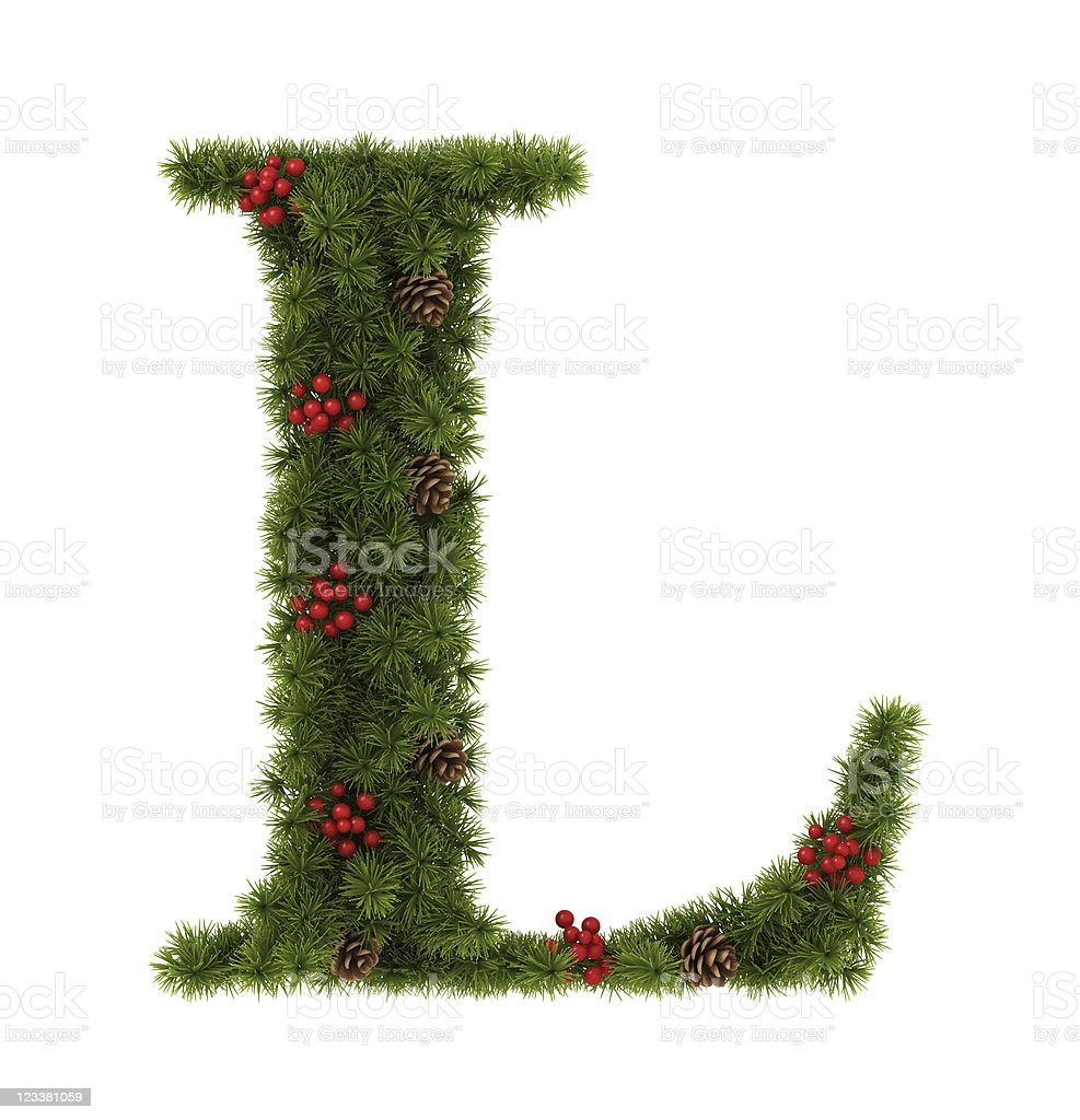 Christmas Alphabet. stock photo