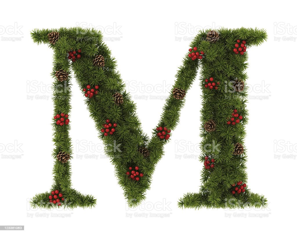 Christmas Alphabet royalty-free stock photo