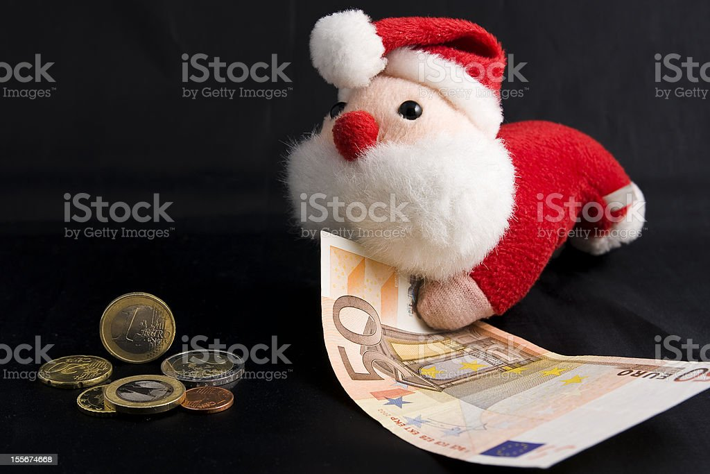 Christmas and money royalty-free stock photo