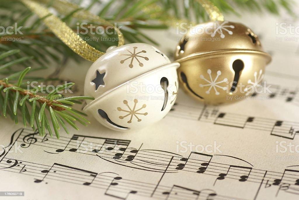 Christmas and music stock photo