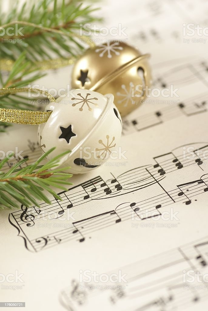 Christmas and music royalty-free stock photo